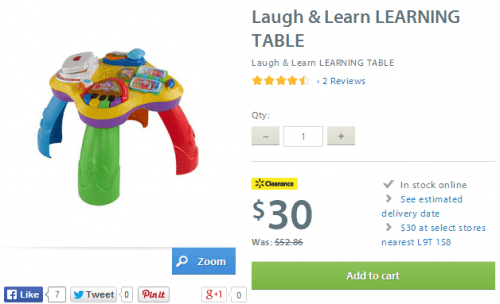 walmart canada laugh and learn table