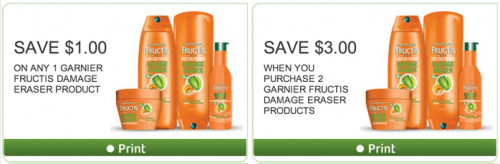 GARNIER Coupons at WebSaver portal