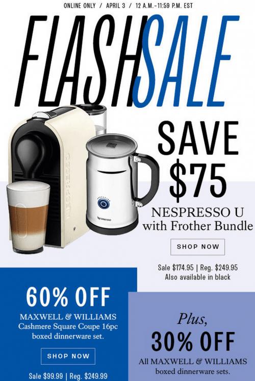 Hudson's Bay Canada Flash sale