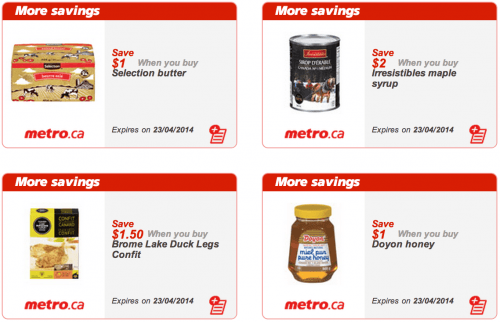 Metro Canada QC printable Coupons
