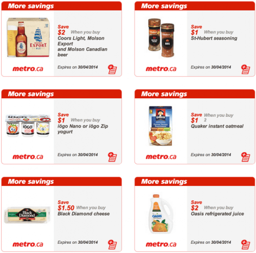 Metro Quebec Canada Printable Grocery Coupons