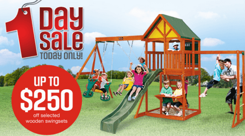 Sears Canada one day sale on Outdoor Toyso
