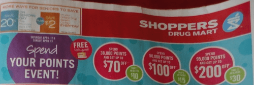 Shoppers Drug Mart Canada Spend Your Points Event