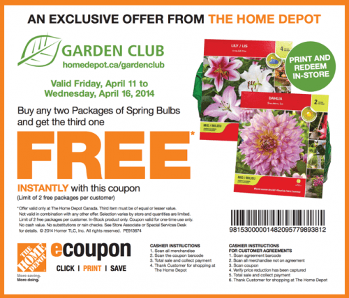 The Home Depot Canada Garden Club Coupons Buy Any 2