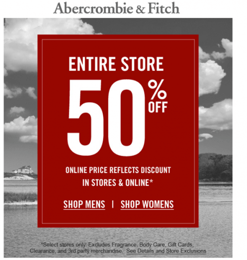 Register for an Abercrombie & Fitch account & enjoy the benefits of faster check out, order history and save wish list. Sign up is fast and easy.
