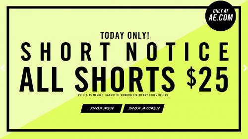 american eagle shorts notice
