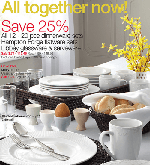 home outfitters april 10 & Home Outfitters Canada Deal: Save 25% Off Dinnerware Sets Hampton ...