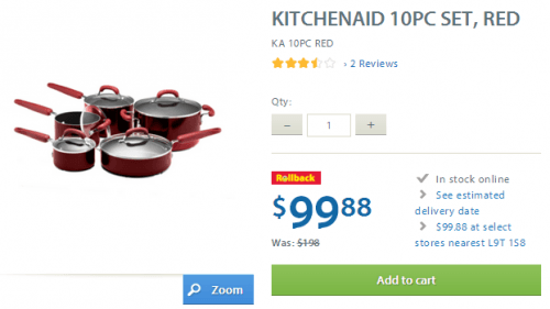 kitchenaid walmart rollback