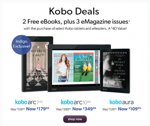 kobo deals chapters indigo