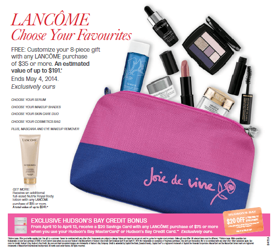 Lancome Gift With Purchase Offers In February 2014