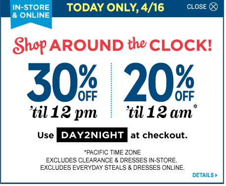 old navy canada today only day to night