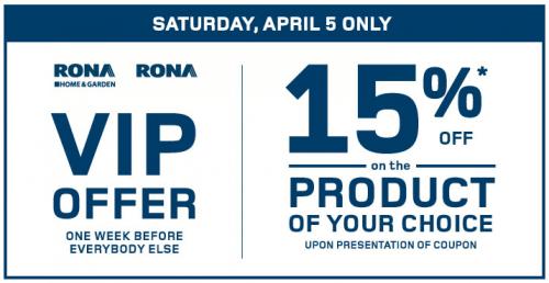 rona coupon