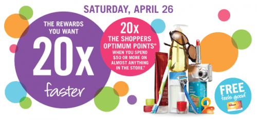 shoppers optimum points promotion april 26