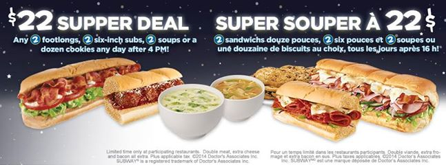 deals at subway canada