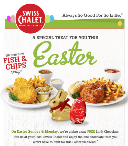 Swiss chalet coupon january 2018