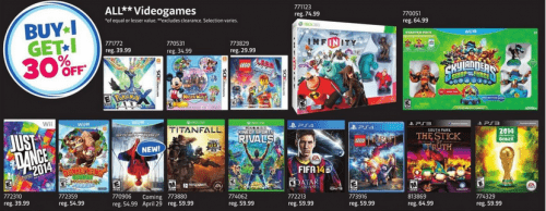 toys r us buy one get one 30 percent off video games