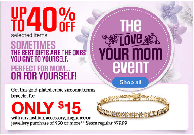 Sears Canada Mother's Day