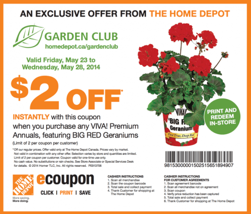 The Home Depot Canada Garden Club Printable Coupons: Save ...