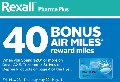 Rexall Canada Promotion: Get 40 Bonus Air Miles Reward ...