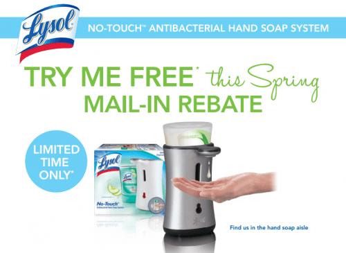 lysol mail in rebate freebie