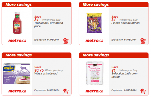 Metro (Quebec) Printable Store Coupons May 8-14: Save on
