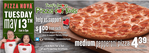 pizza nova that s amore charity day on may 13 medium. Black Bedroom Furniture Sets. Home Design Ideas