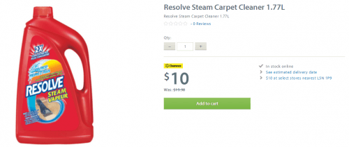 resolve steam carpet cleaner walmart