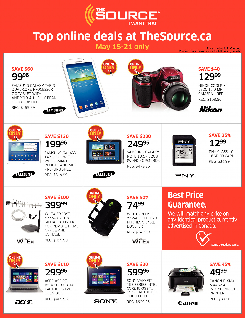 Best deals canada online
