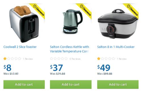 Walmart Canada Small Kitchen Appliances 50% f Free