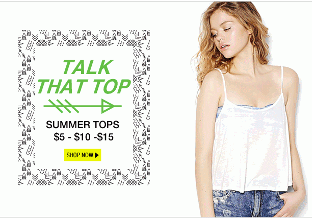 8a3e07852f Garage Canada Offers  Summer Tops From  5   More