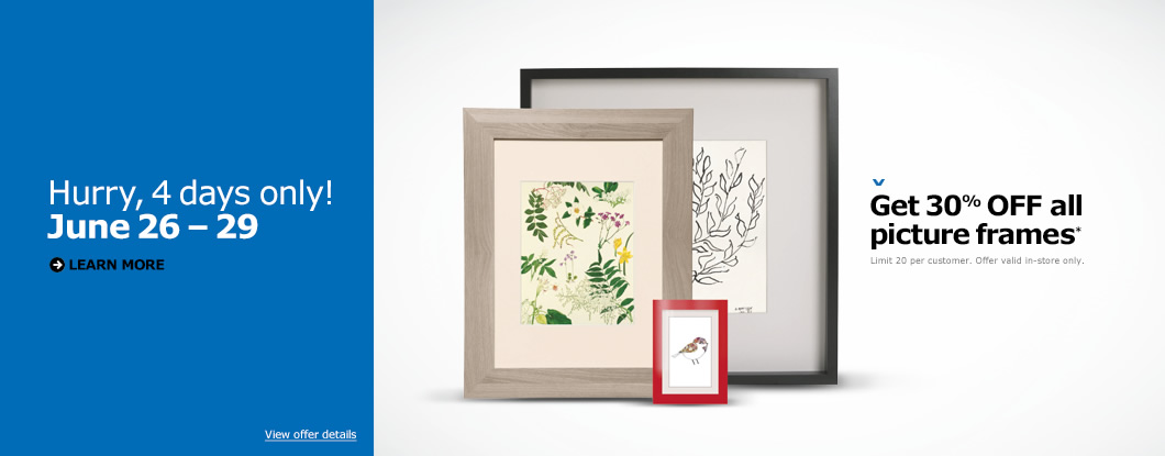 IKEA Canada Sale: Save 30% Off Picture Frames for Four Days Only ...