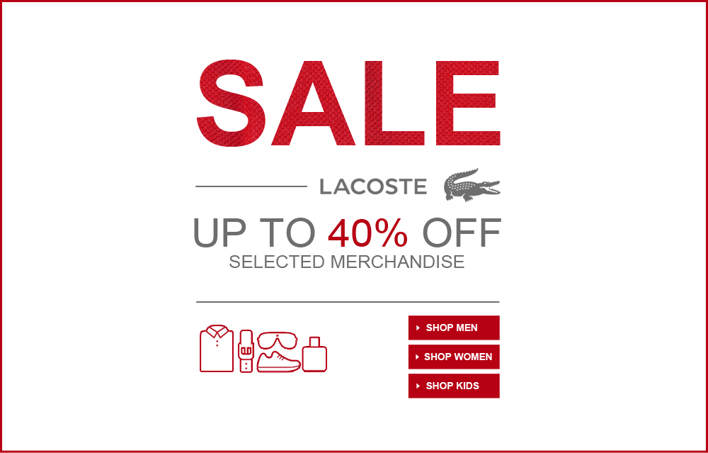 Lacoste online coupons