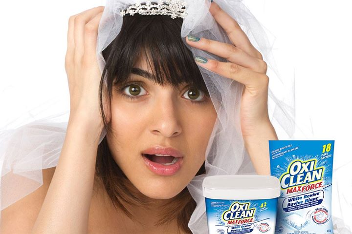 Oxiclean canada facebook giveaway win a free oxiclean for Oxiclean wedding dress