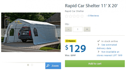 rapid car shelter