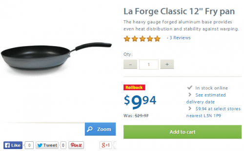 walmart la forge fry pan