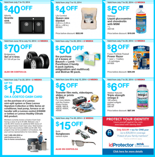 Costco Canada Flyers in British Columbia, Alberta, Saskatchewan and Manitoba.