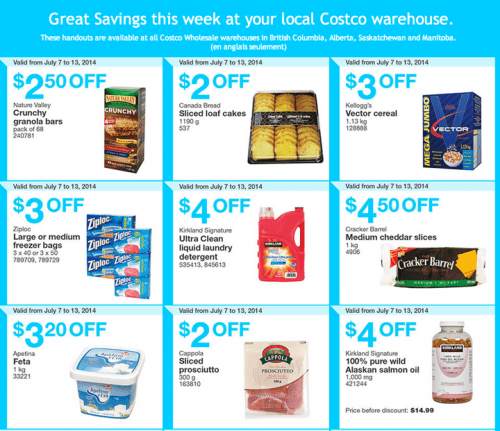 Costco Coupons for British Columbia, Alberta, Saskatchewan and Manitoba