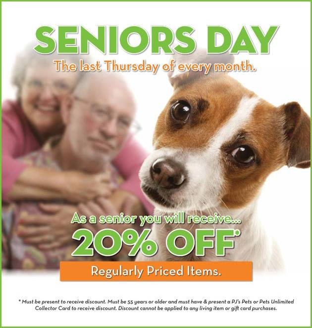 PJs Pets Seniors Day