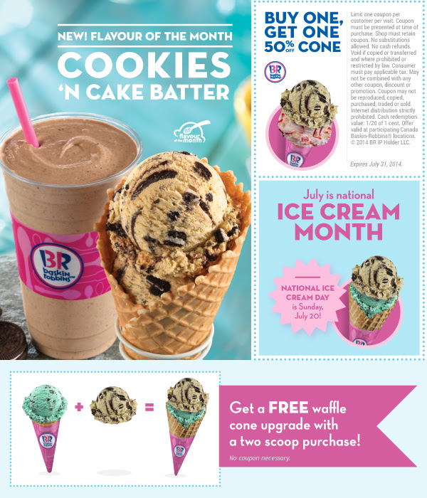 Discount coupons for baskin robbins