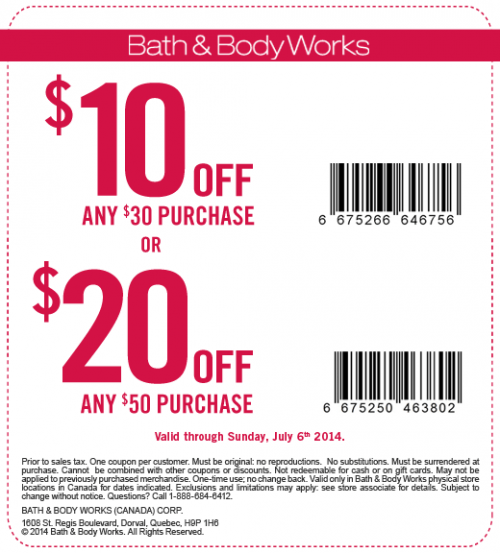 5. If you're in the market for candles, there are great Bath & Body Works printable coupons for 50% off candles that are occasionally released. The promotion can also be saved to your phone to redeem in-store. 6. Redeem Bath & Body Works promo codes by entering them in the empty box on the first step of the checkout process.