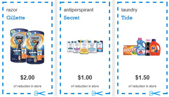 Coupons p&g canada