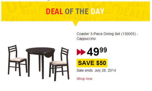 Future Shop Coaster Dining Set
