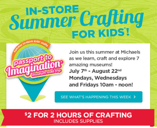 Michael s arts and crafts canada offers 2 in store craft for Coupons michaels arts and crafts