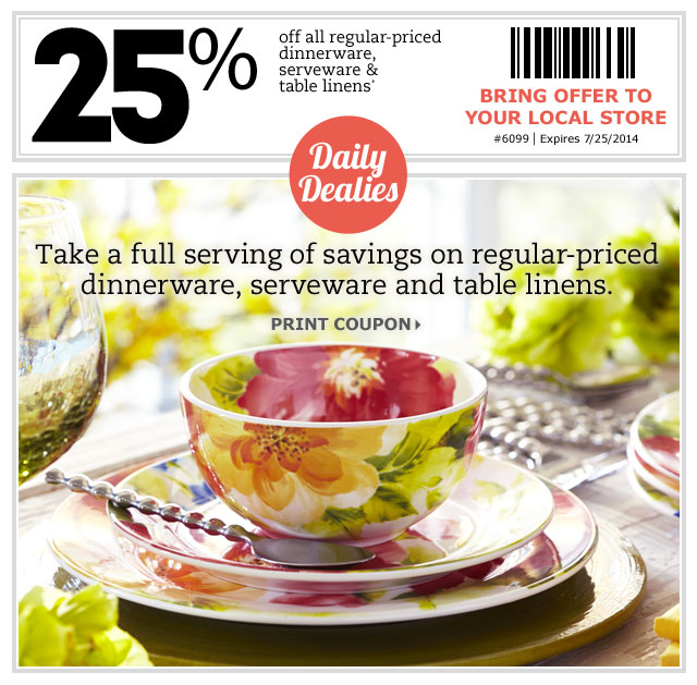 Pier 1 Imports Canada: Pier 1 Imports Canada Daily Coupon: Save 25% Off