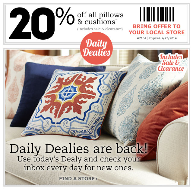 Pier 1 Imports Canada Printable Coupon: Save 20% Off All