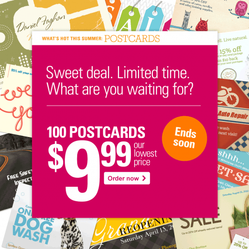 Vista Print Canada Deal 100 Post Cards or Business Cards