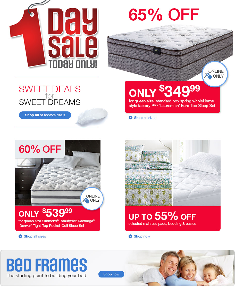 sears canada 1 day sale online save up to 65 off select mattresses