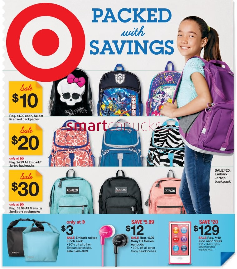 e16b140235 Target Canada Flyer Deals  Great Sales and Deals on Back to School ...