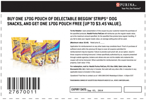 Purina one coupons canada