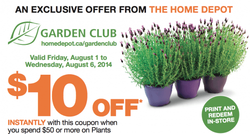 The Weekly Home Depot Canada S Garden Club Coupon Save
